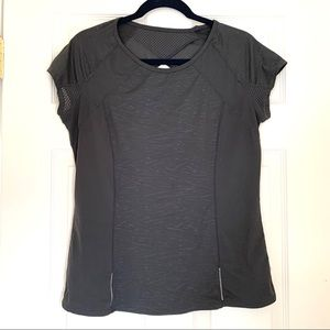 Athleta Gray Printed Athletic Top Size Large